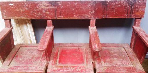 Vintage Red Cinema Bench - 2