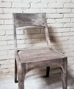 Sandblasted Grey Acacia Wood Chair - 1