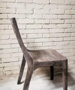 Sandblasted Grey Acacia Wood Chair - 2