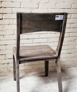Sandblasted Grey Acacia Wood Chair - 3