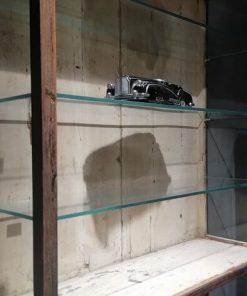 Antieke Open Kast Met Glazen Planken - 3