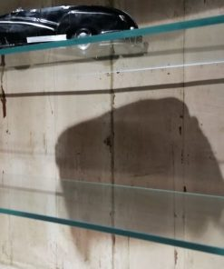 Antieke Open Kast Met Glazen Planken - 4