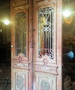 Antique Door With Wrought Iron Fence - 1
