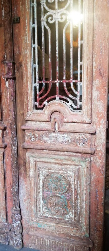 Antique Door With Wrought Iron Fence - 3