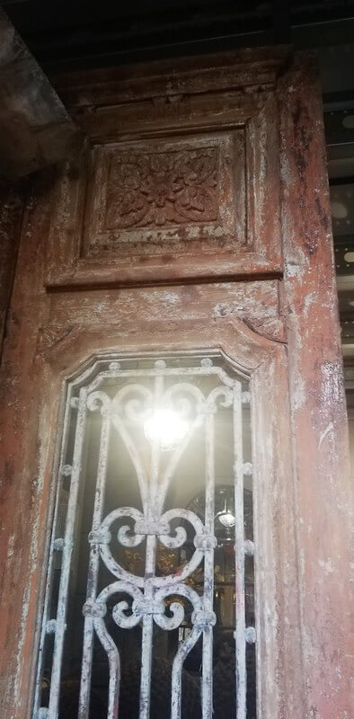 Antique Door With Wrought Iron Fence - 4