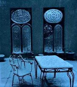 Antique Windows With Wrought Iron Decorative Fencing - 1