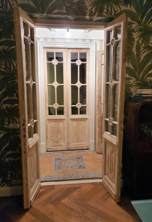 Antique Doors Wood With Glass - 1