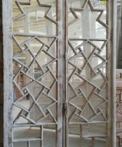 Antique Window Frame With Mirrors - 1