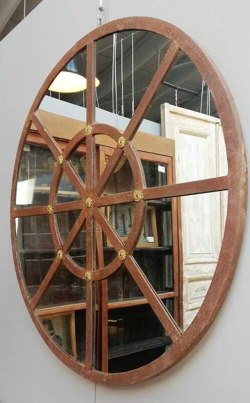 Round Stable Window Mirror - 1