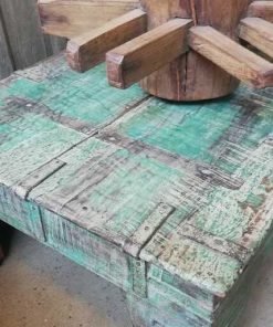 Vintage Green Coffee Table - 2