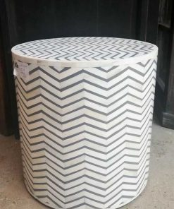 White / Grey Side table - 4