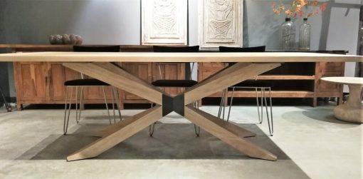 Acacia Natural Color Dining Table - 1
