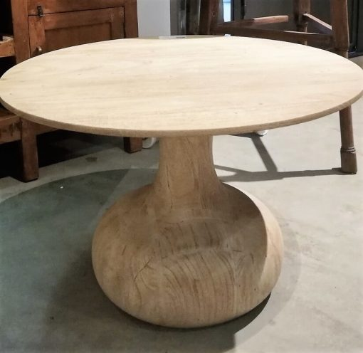Acacia Natural colored Round Salon / Side table - 1