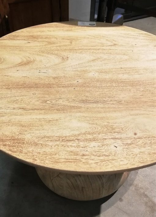 Acacia Natural colored Round Salon / Side table - 2