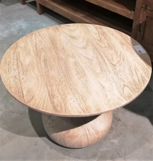 Acacia Natural colored Round Salon / Side table - 3