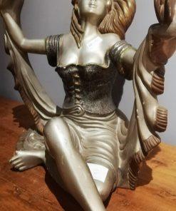 Art Deco Beeld Van Zittende Vrouw-1