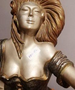 Art Deco Beeld Van Zittende Vrouw-2