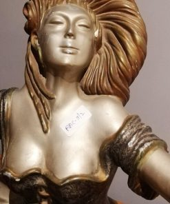 Art Deco Sitting Woman Statue-2