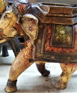 Wooden Colored Elephants-3