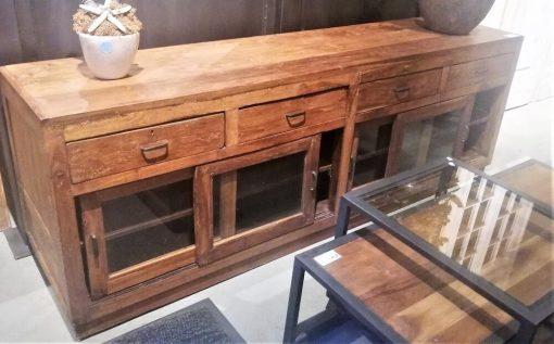 Vintage Teak TV Cabinet / Sideboard-1