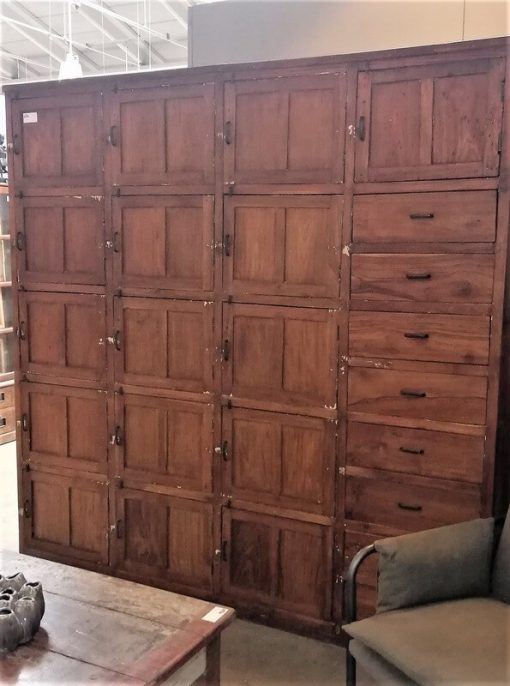 Antique Teak Locker Cabinet-1