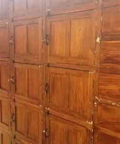 Antique Teak Locker Cabinet-2