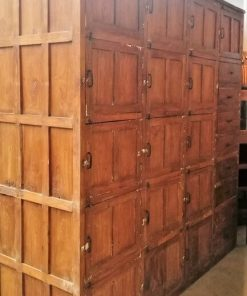 Antique Teak Locker Cabinet-3