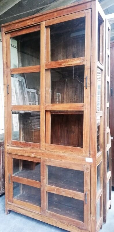 Antique Showcase Cabinet-2