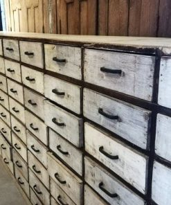 Antique White Chest of drawers-4