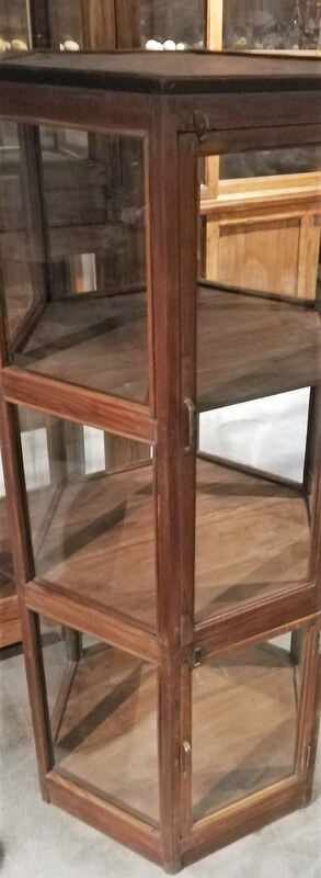 Antique 6 Angled Display Case-3