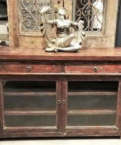 Antique Sideboard With Glass-1