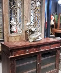 Antique Sideboard With Glass-2