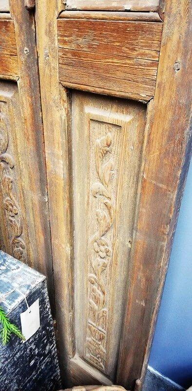 Antieke Louvre Luiken / Shutters 305x109 Cm-4