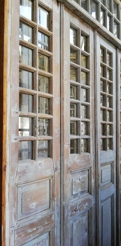 Antique Orangery / 4 Stroke Doors with Checkers-2