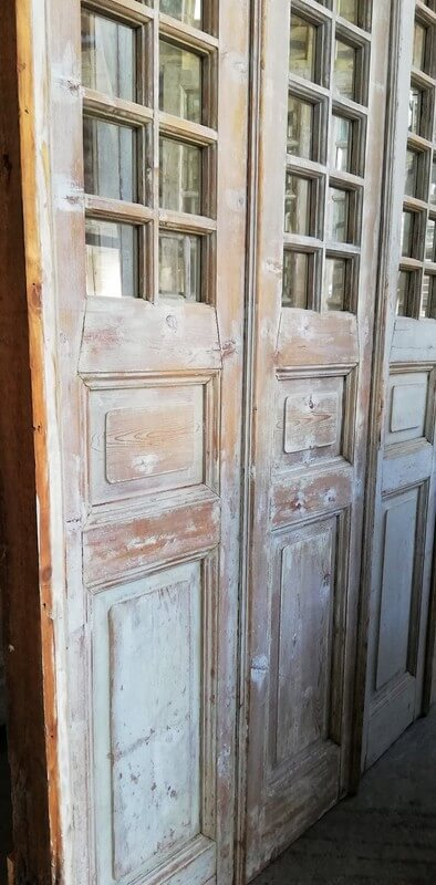 Antique Orangery / 4 Stroke Doors with Checkers-3