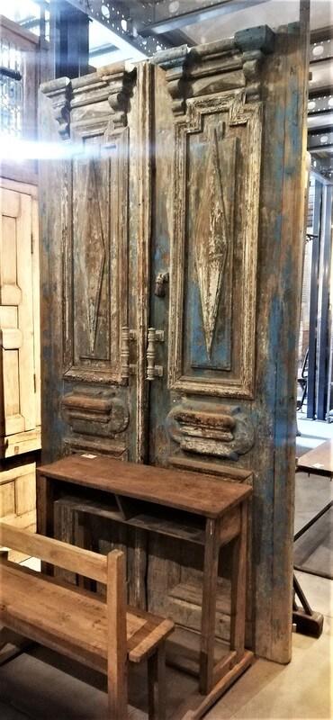 Antique Blue Exterior Doors-1