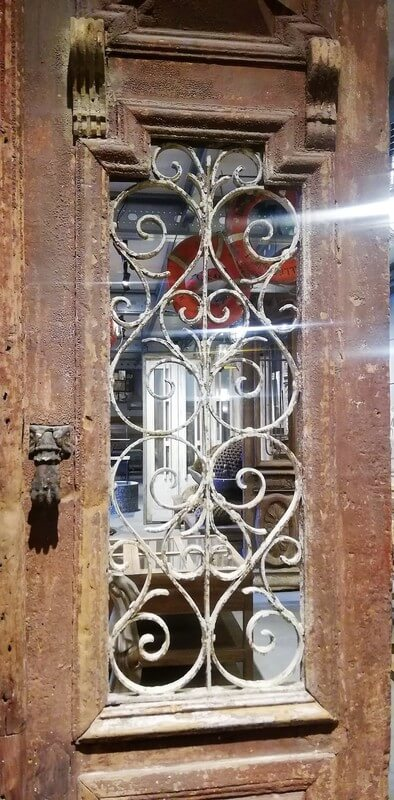 Antique Wrought Iron Decorated Exterior Doors-2