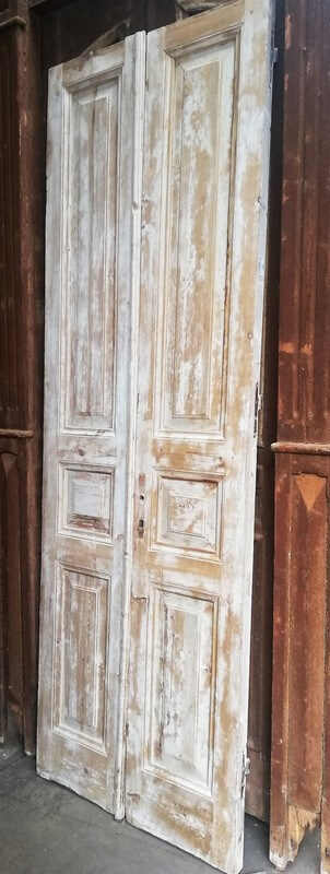 Antique Double Panel Doors-1