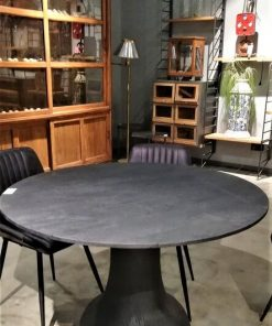 Black Round Wooden Table / Bar Table-1