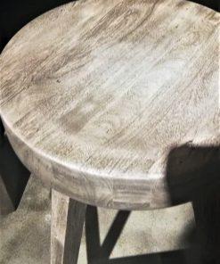 Grey Acacia Wooden Bar Table / Cabinet-2