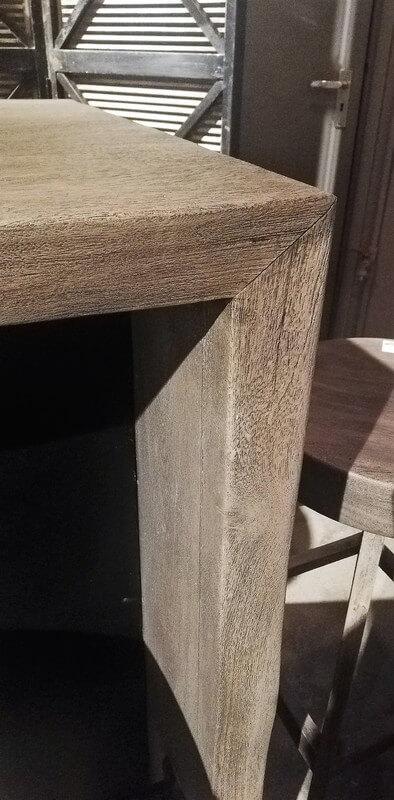 Grey Acacia Wooden Bar Table / Cabinet-3