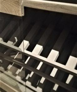 Grey Acacia Wooden Bar Table / Cabinet-4