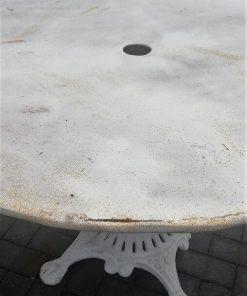 Witte Ronde Ijzeren Bistro Tafel-5