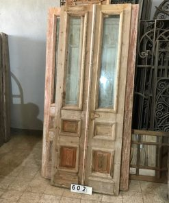 Antique Inner Doors With Polished Glass-1