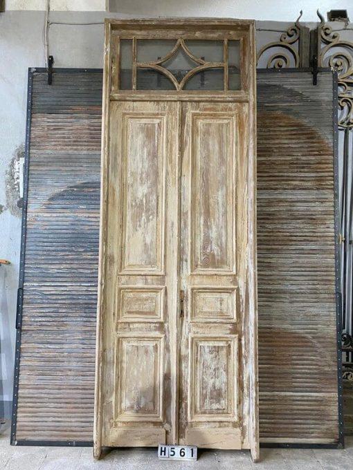 Antique Panel Doors In Frame-1