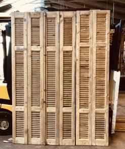 Antieke louvre luiken / shutters / deuren hxb 210×100 cm va empirebv