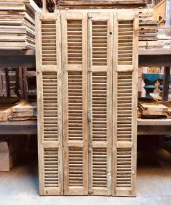 Antieke louvre luiken / shutters hxb 191×93,5 cm va empirebestbv